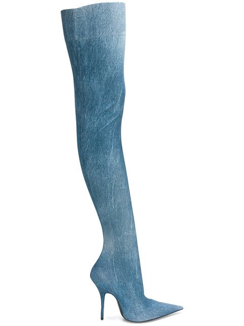 Balenciaga Knife Over-the-knee Boots - Farfetch