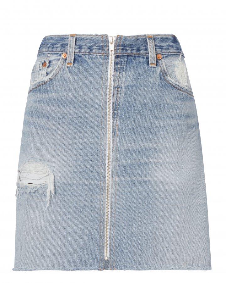 High-Waisted Zip Detail Pencil Skirt