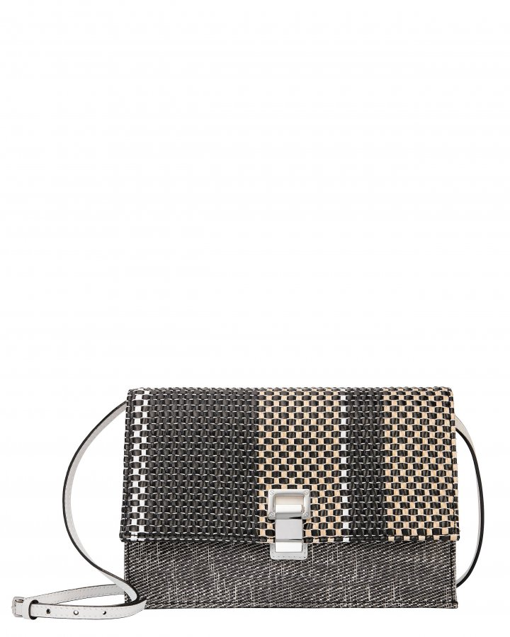 Mixed Woven Lunch Bag Clutch