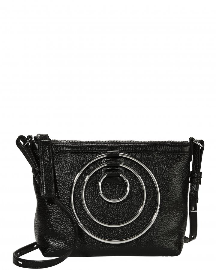 Multi Ring Leather Pouch Bag