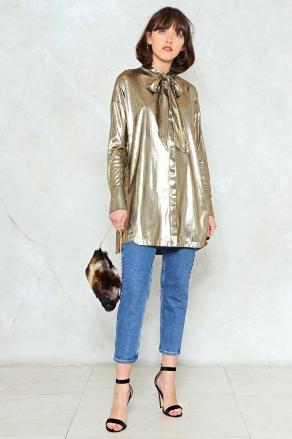 Feel the Light Metallic Shirt