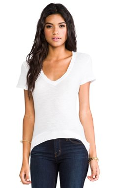 Casual V Neck Tee with Reverse Binding                                             James Perse