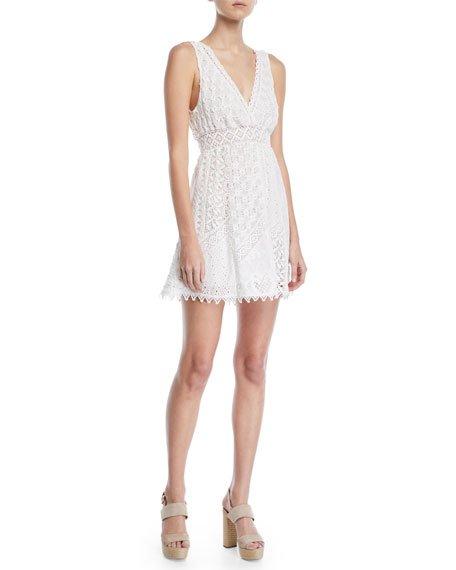 Bailey 44 City Slicker Sleeveless Cotton Eyelet Mini Dress