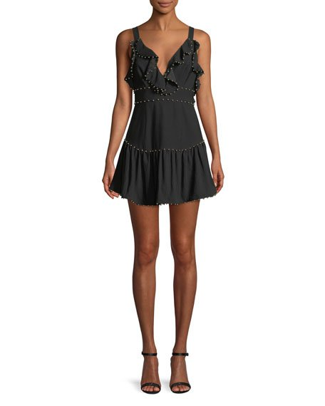 La Maison Talulah Rare Beauty Ruffle Mini Dress