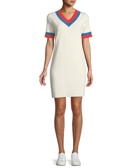 Kule The Serena V-Neck Cashmere Dress