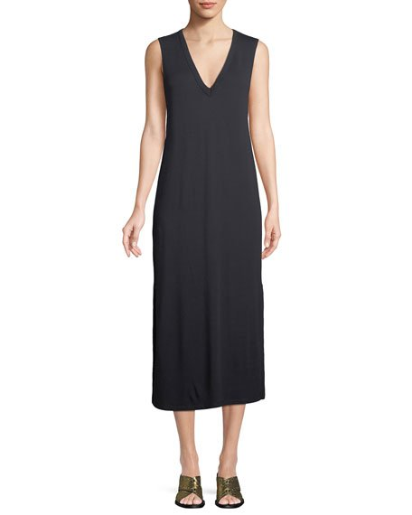 rag & bone/JEAN Phoenix V-Neck Sleeveless Midi Shift Dress