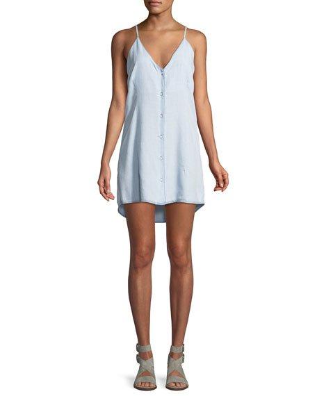 DL 1961 Minetta Button-Front Slip Tank Dress