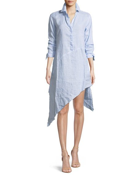 Frank & Eileen Drake Long-Sleeve Linen Shirtdress