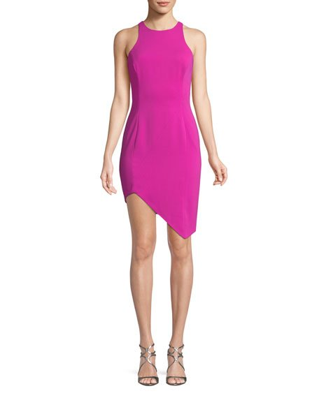 Jay Godfrey Gallagher Asymmetric Mini Cocktail Dress