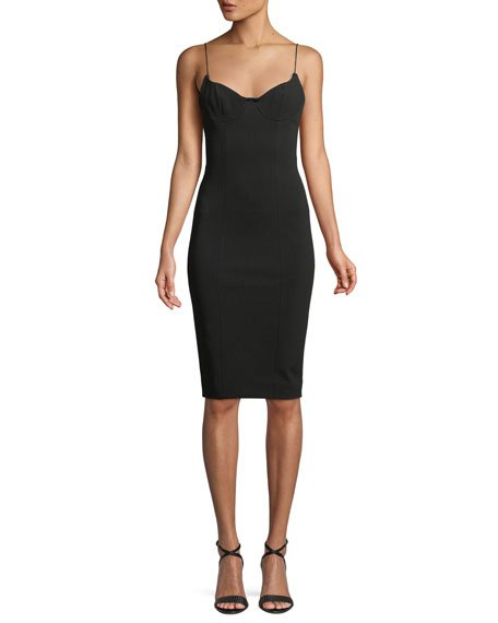 Misha Scoop-Back Cocktail Sheath Dress