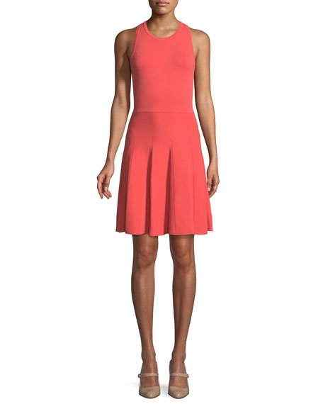 MICHAEL Michael Kors Stretch-Knit Fit-and-Flare Dress