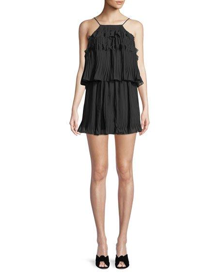 Ramy Brook Shauna High-Neck Sleeveless Midi Dress