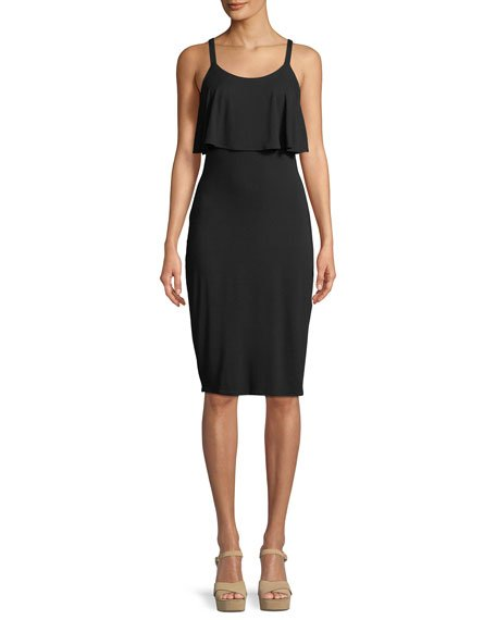 MICHAEL Michael Kors Flounce-Popover Knit Tank Dress