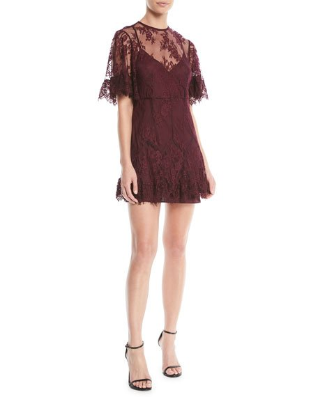 La Maison Talulah Blind Love Illusion Lace Mini Dress