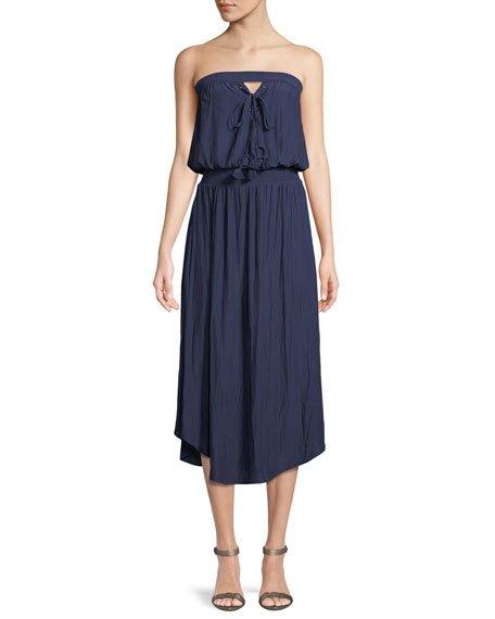 Ramy Brook Stephanie Strapless Midi Dress