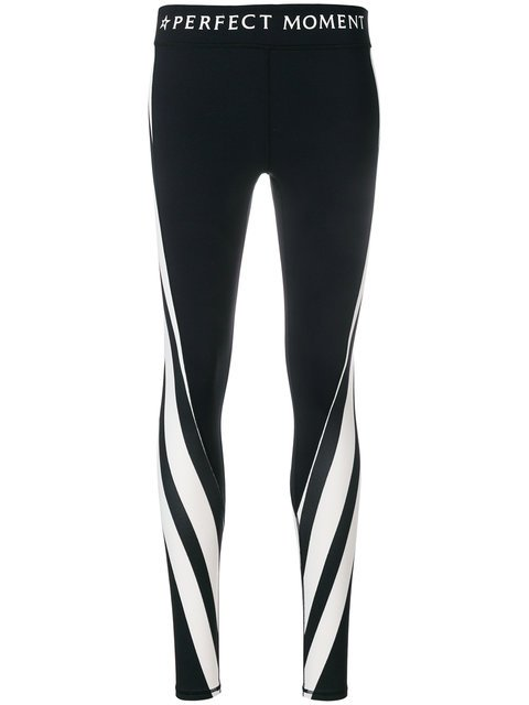 Perfect Moment Diagonal Stripes Leggings - Farfetch