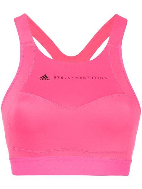 Adidas By Stella Mccartney Logo Printed Sports Bra - Farfetch