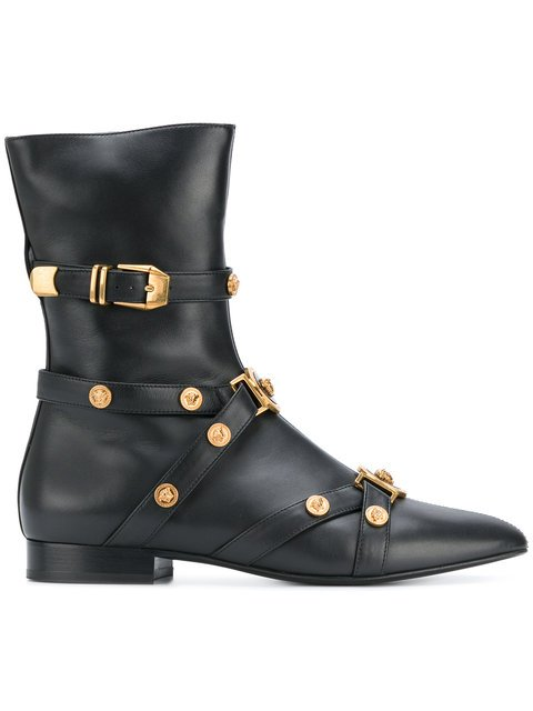Versace Tribute Booties - Farfetch