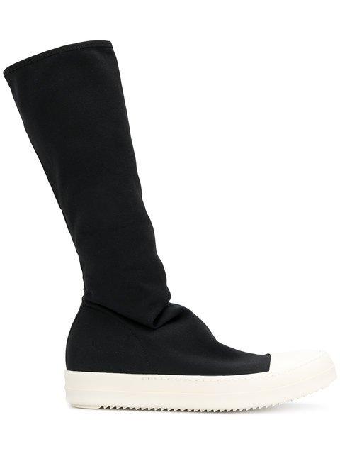 Rick Owens DRKSHDW Stocking Sneak Knee Boots - Farfetch
