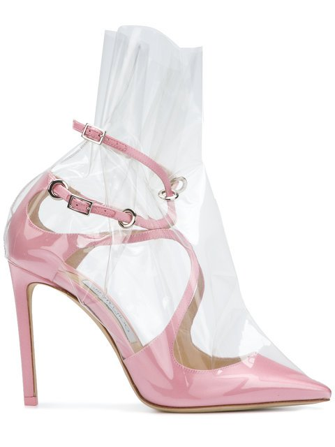 Off-White C/O Jimmy Choo Claire 100 Pumps - Farfetch