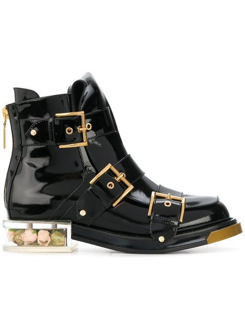 Alexander McQueen Buckle Fastening Boots - Farfetch