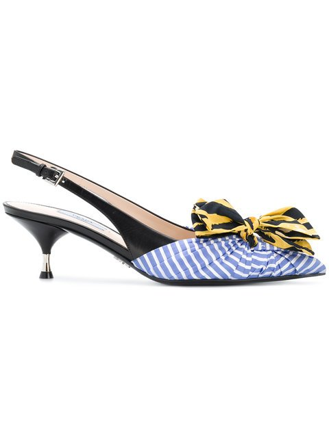 Prada Miss-matched Bow Pumps - Farfetch