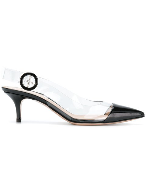 Gianvito Rossi Panelled Slingback Pumps - Farfetch