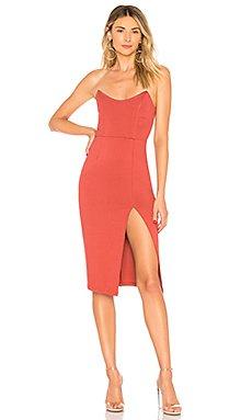 Zarah Strapless High Slit Midi Dress                                             by the way.
