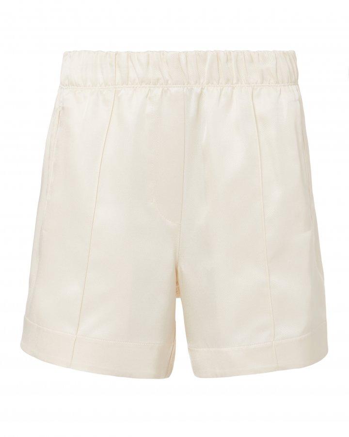 Silk Ivory Shorts