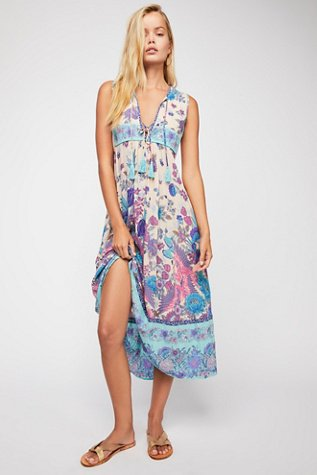 Siren Song Boho Midi Dress