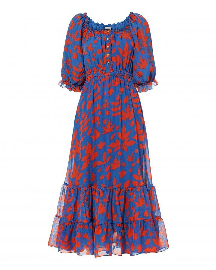 Alexa Button Front Midi Dress