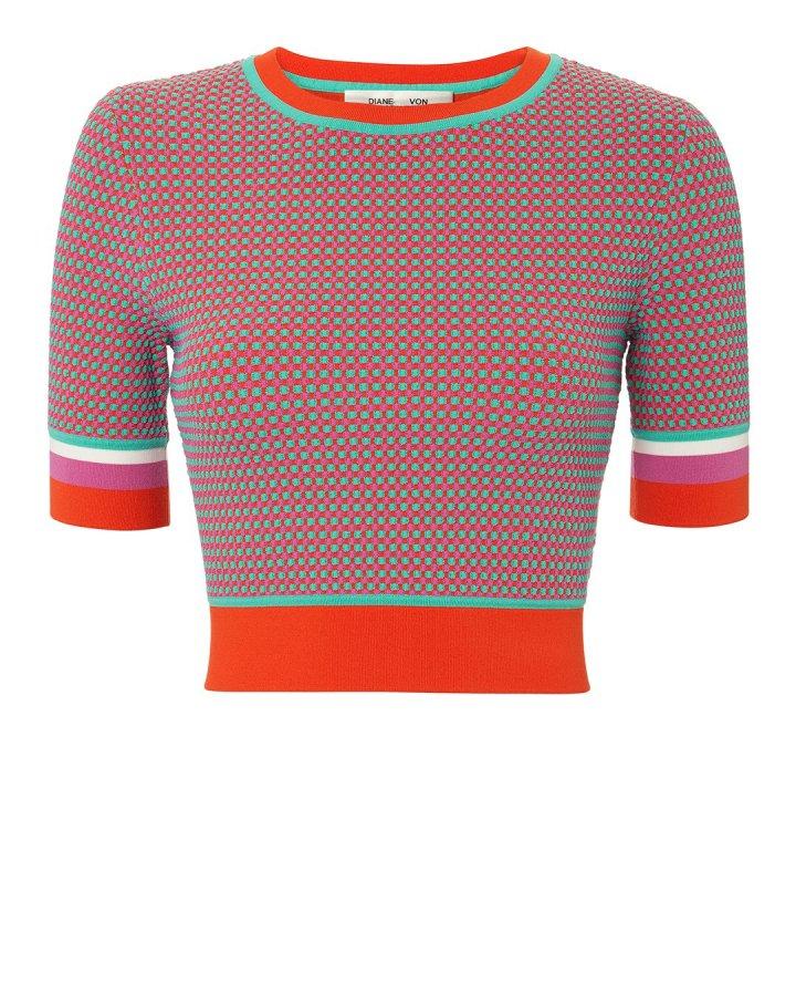 Jacquard Cropped Sweater