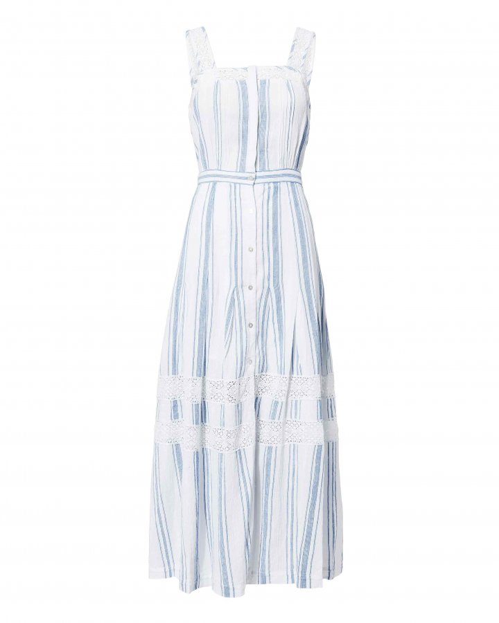 Eve Striped Midii Dress