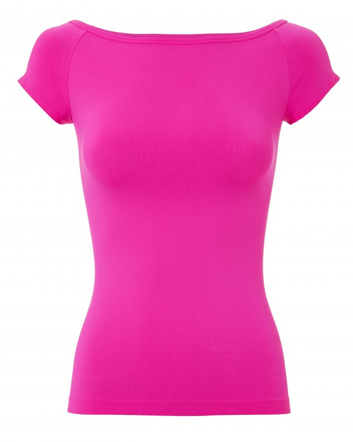 Boat Neck Pink Top