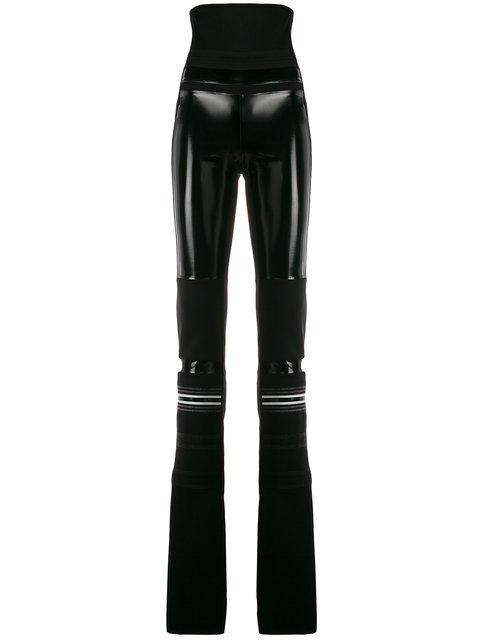 No Ka\' Oi Patent Panelled Leggings - Farfetch