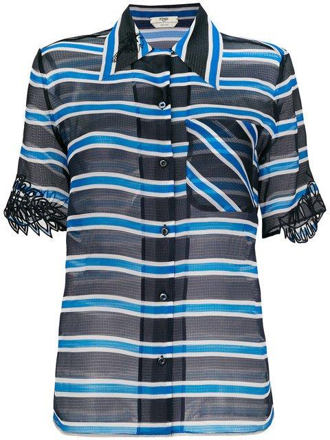 Fendi Striped Sheer Blouse - Farfetch