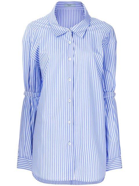 Prada Pinstriped Oversized Shirts - Farfetch