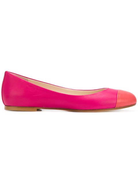 Anna Baiguera Colour Block Ballerina Pumps - Farfetch