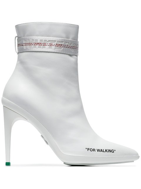 Off-White White For Walking 100 Ankle Boots - Farfetch