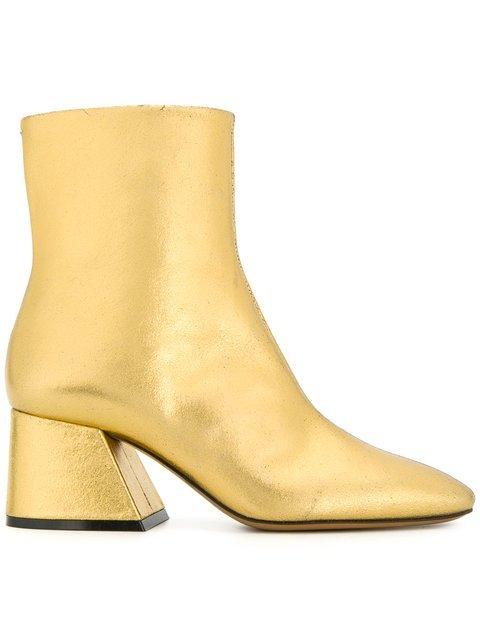 Maison Margiela Flare Heel Ankle Boots - Farfetch