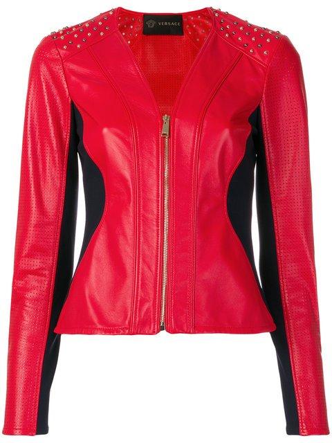 Versace Collar-less Motorcycle Jacket - Farfetch