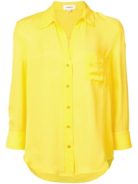 L\'agence V-neck Chest Pocket Shirt  - Farfetch