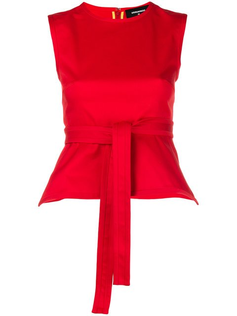 Dsquared2 Waist Tie Peplum Top - Farfetch