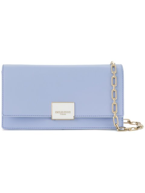 Emilio Pucci Logo Plaque Clutch Bag - Farfetch