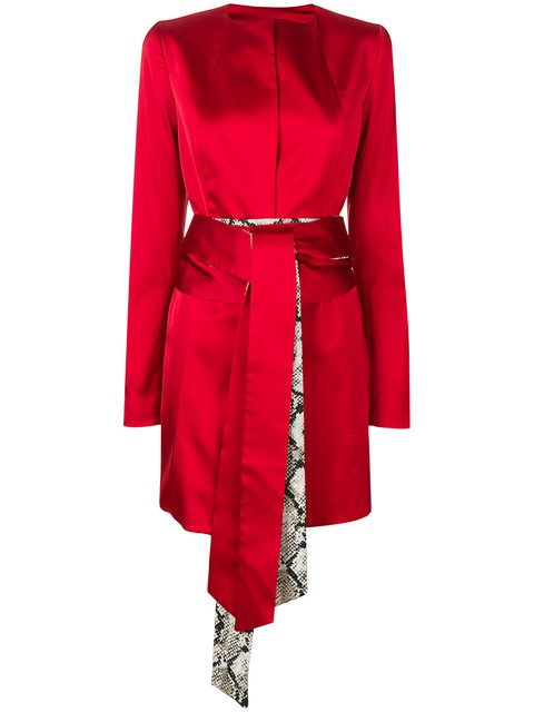 Rouge Margaux Tie Waist Fitted Jacket - Farfetch