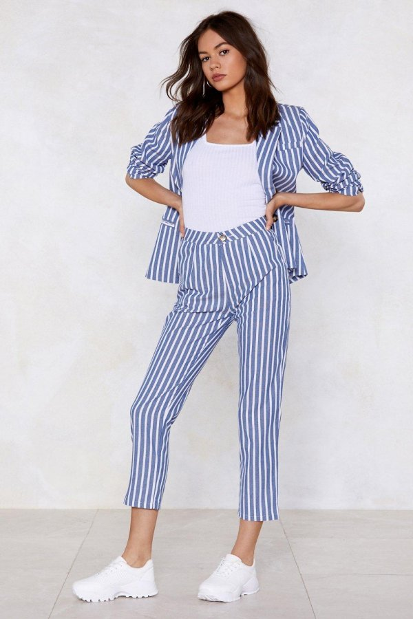 Line of My Life Striped Pants