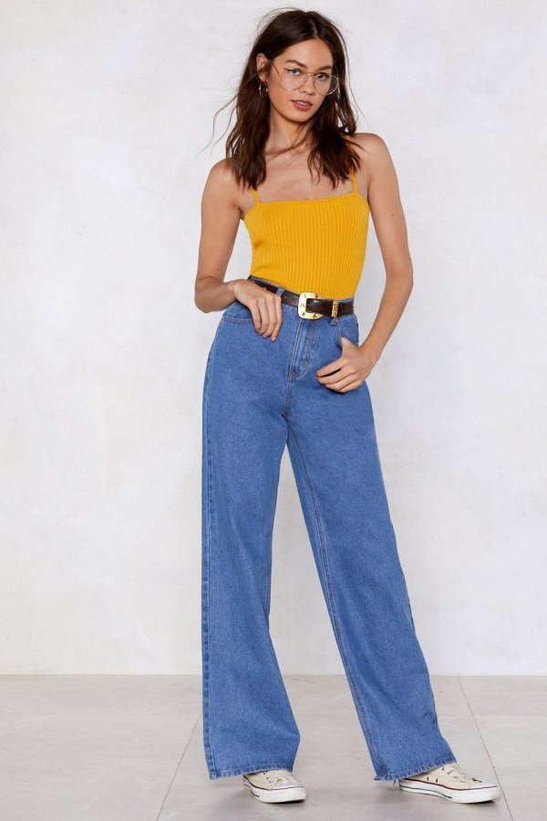 Take One Giant Step Wide-Leg Jeans