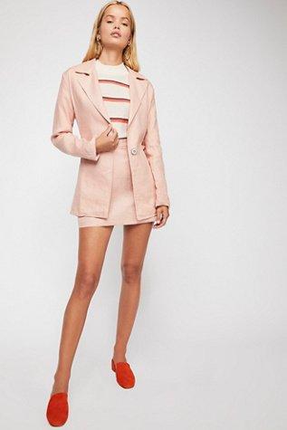 Power Play Linen Suit