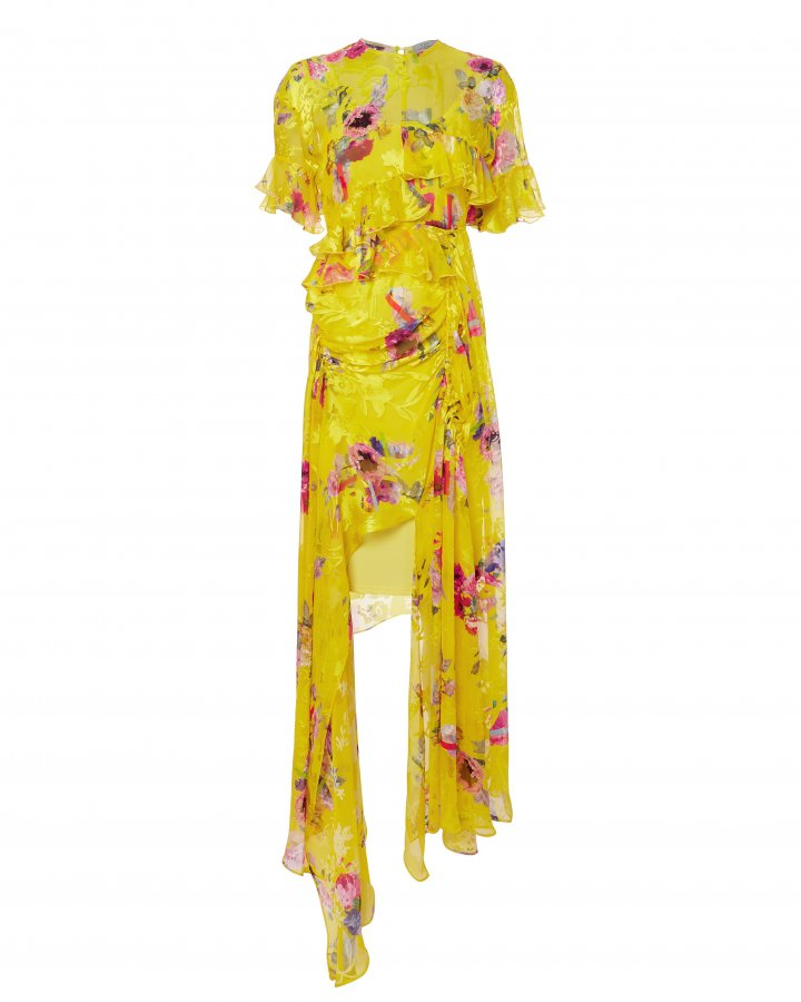 Nickesha Floral Asymmetric Dress