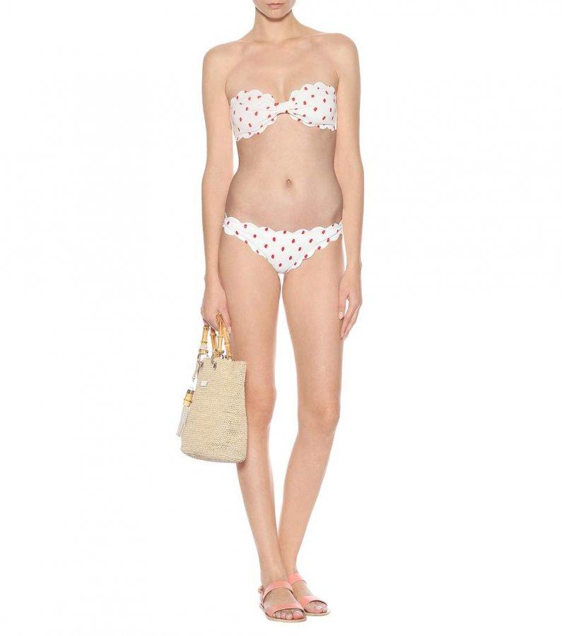Antibes printed bikini top